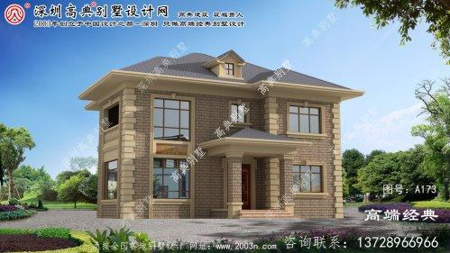 溧阳市二层别墅设计采光良好,空间宽敞明亮