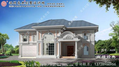 潘集区甜美风格二层复式别墅设计大全