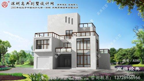 三门县外观欧式四层别墅外观图