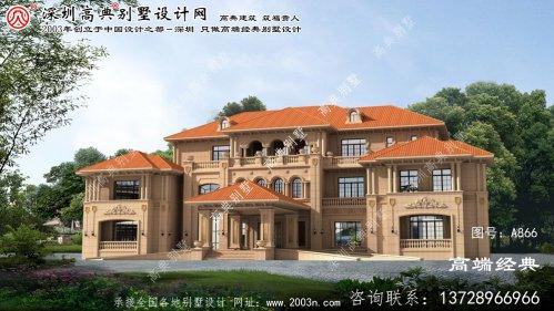 诏安县欧式风格三层石材大别墅设计图纸