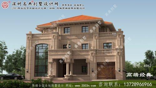 月湖区农村房屋三层楼设计