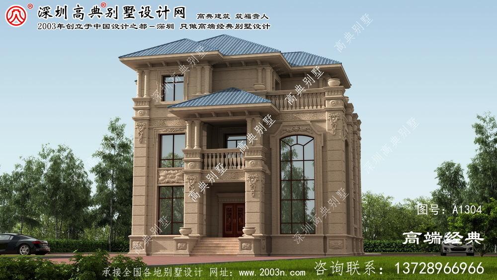 高邑县欧式石材别墅设计图纸