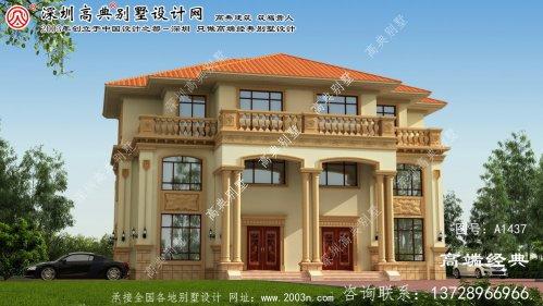 宽城满族自治县双拼复式别墅设计图