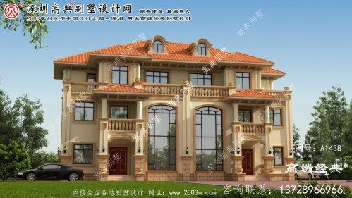 隆化县三层联体别墅外观图