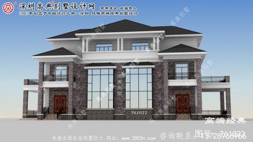 阿荣旗三层复式双拼别墅设计图