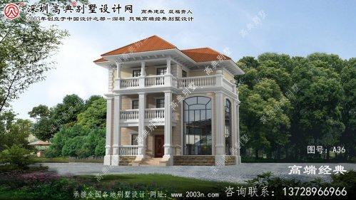 连山区欧式三层别墅外观效果图