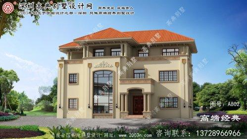 汤阴县内黄县三楼别墅设计图