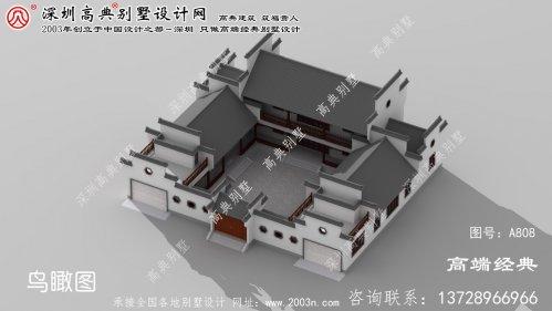 龙安区简单二层庭院别墅设计图