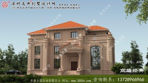 南漳县农村三层别墅设计图纸