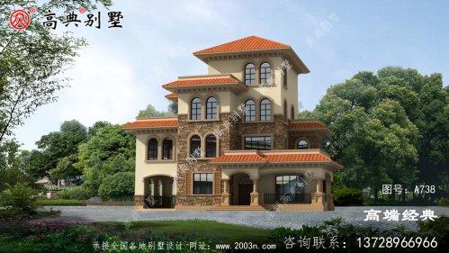 农村大户型别墅设计图三层