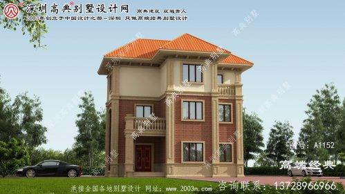 永福县三层楼的别墅,建了一个漂亮的案例,你