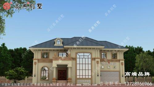 小楼房设计简单大方的复式两层别墅