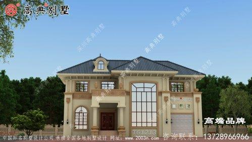 楼房正面设计图成为一道靓丽的风景。