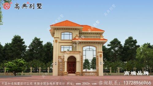 别墅外形效果图带复式三层农村小别墅设计图
