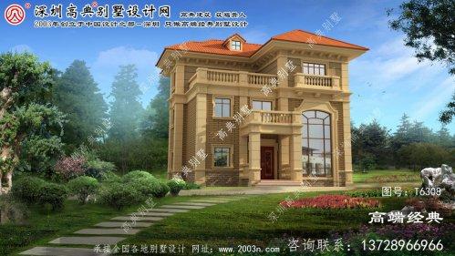 易县奢华的乡村三层欧式别墅的设计和施工图纸