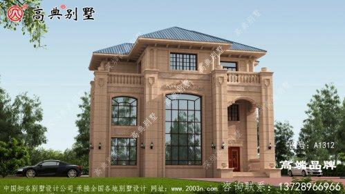 3层别墅设计图纸罗马柱的使用更是锦上添花