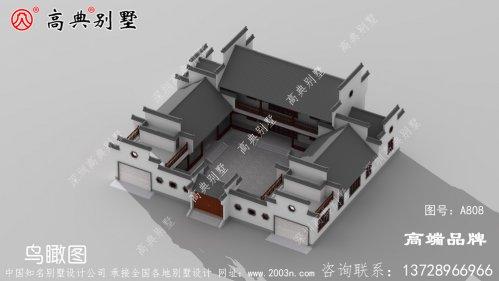 农村自建房二层在这栋宅院中得到了完美诠释的