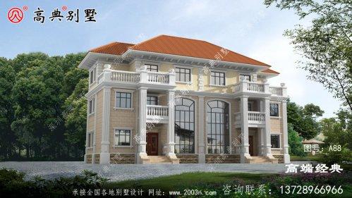 界首市 三层带阳台别墅设计图,准备建房的朋友