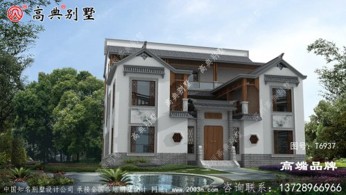 三层别墅效果图适合80%的家庭建房需求