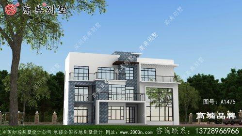 别墅外观效果图造价不高,颜值却很高。
