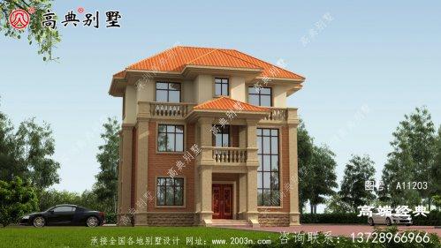 优雅的门窗很好的勾勒出建筑的立面造型