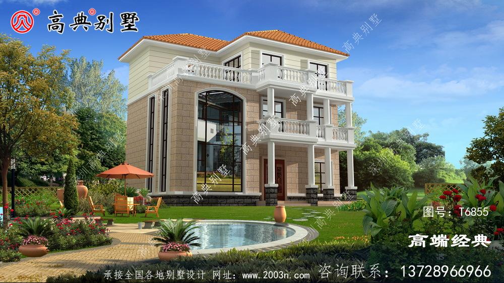 禹城市三层现代楼房户型图,城市房价高,回老家建一栋