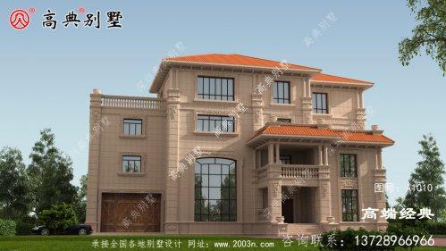 豪华欧式四层别墅,整体造型很气派