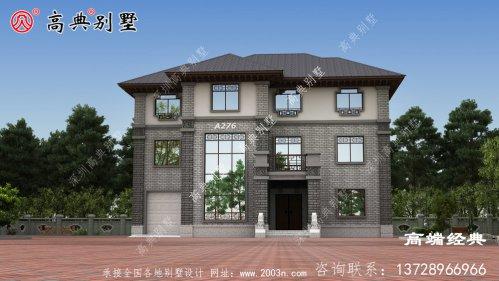 根据农村居住习惯设有堂屋户型的复式三层中式