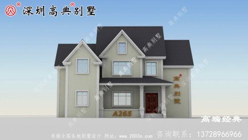 简单乡村 大气 的二层楼 图,以满足 大家 的建房
