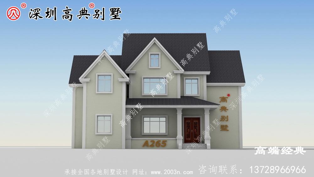 简单乡村 大气 的二层楼 图,以满足 大家 的建房 需求 。