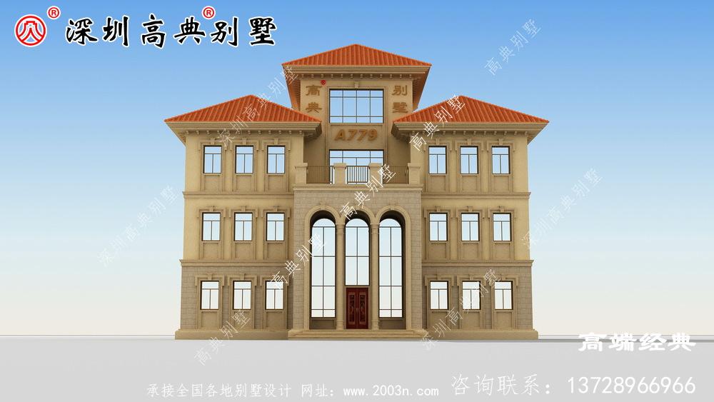 农村四层别墅设计图纸,自建房建这栋面子十足