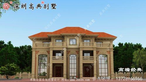 经典欧式别墅,朴素典雅,主体造价50万。
