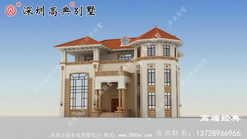 新款带挑空客厅三层别墅设计图,漂亮耐看,采
