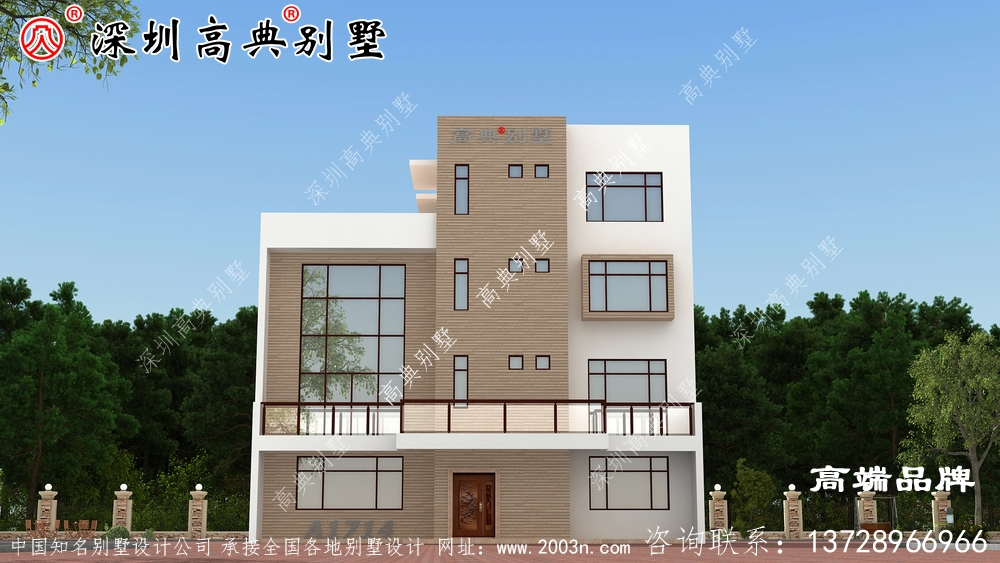 农村自建房设计图纸,一看就是好别墅,又符合农村建房习惯,又大气