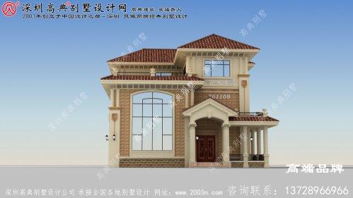 实力派三层别墅设计图,细节讲究,造型雅致