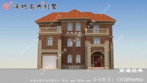 乡村二层半小户型别墅设计图,建造一座绝对是