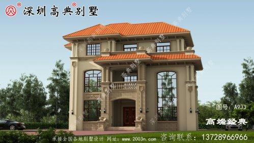 农村普通三层楼自建房平面图,这户型真的是绝
