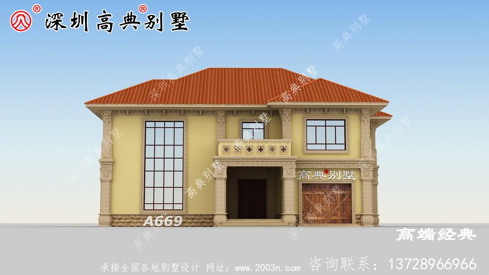 受欢迎的二楼复式别墅图纸,整个房子看起来更大气