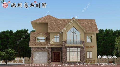 三层楼的设计图农村简单大气,家庭多,可以这