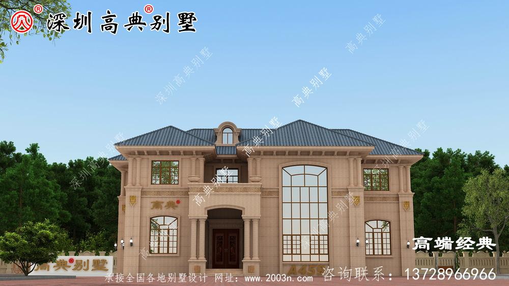 欧式石材别墅融合了现代元素,符合现代人的审美