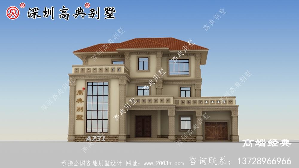 农村简欧别墅,一般农村家庭都能建的起