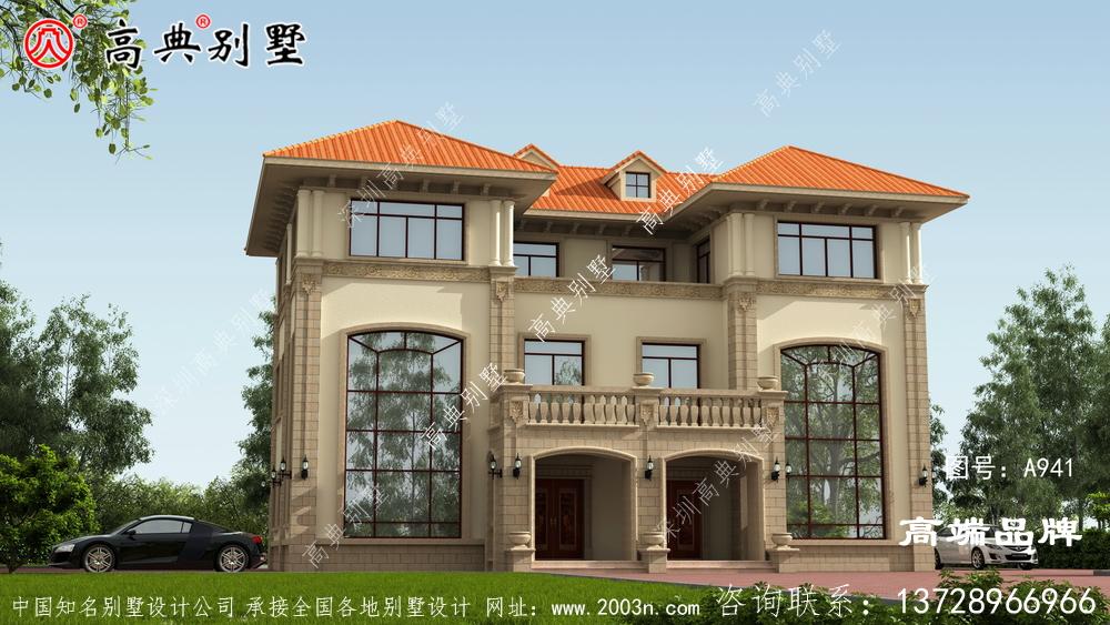 屋檐的设计在避雨的同时,增加了家庭的立体感