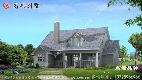 两层美式别墅不光户型实用,外观也是别致温馨
