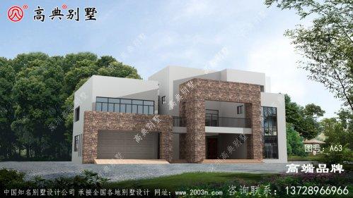 占地206平方米新农村二层现代住宅