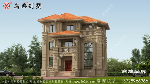 欧式三层别墅设计图,别说城里人