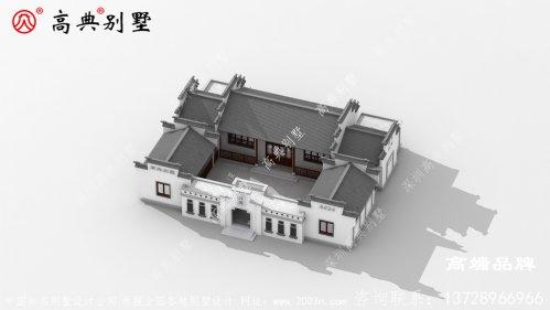 中式庭院别墅坐北朝南,采光充足