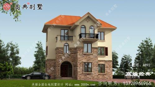 欧式别墅户型,建得人很多,自建房建这栋不后