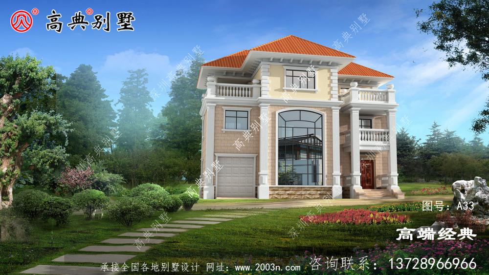 千万不能错过的乡村三层欧式别墅设计图