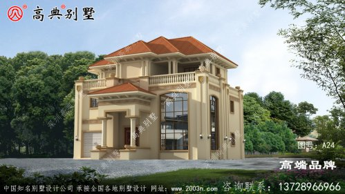 农村别墅这样设计,整栋房屋住宅显得更加端庄时尚