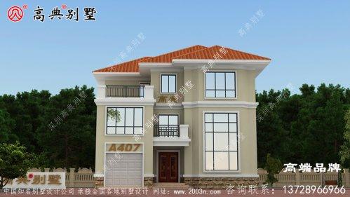 乡村三层简欧别墅设计图,外观时尚简约,住着惬意自在